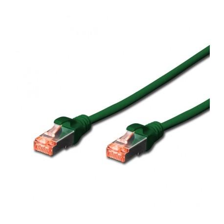 Câble RJ45 S/FTP catégorie 6 25cm vert