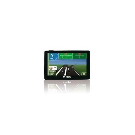 "Mappy ULTI S556 GPS écran 5"" Europe 15 pays Noir"