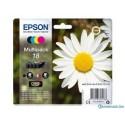 Epson Multipack 18 Pâquerette - Pack de 4 cartouches noire, cyan, magenta, jaune