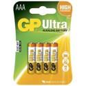 GP BATTERIE GP24AU-2U4 Piles alcalines Ultra  AAA/AM4/E92 1,5V
