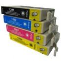 Epson T01295 - Pack 4 Cartouches Compatibles  SIGMA équivalent Epson Pomme