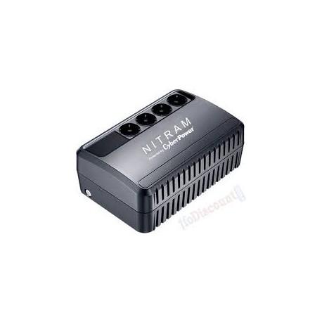 NITRAM AVR1000VA Onduleur avec régulateur de tension 1 000VA Noir