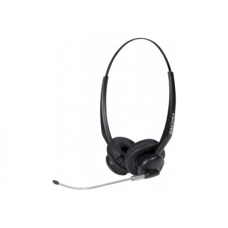 Dacomex casque centre d'appel micro tube - 2 écouteurs