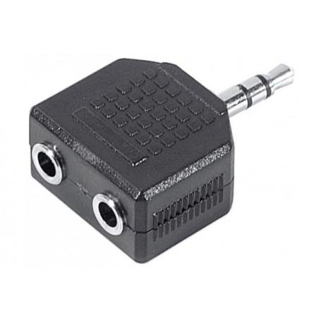 Doubleur adaptateur jack 3.5mm stéréo monobloc