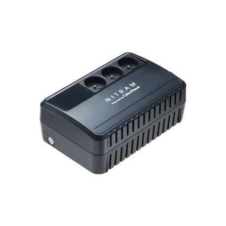 NITRAM BU600E Onduleur avec régulateur de tension 600VA Noir