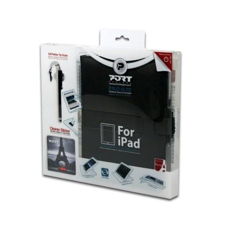 Pack étui avec stylet et chiffon pour iPad 2/3 Noir - Port Designs Palo Alto User Pack 501598