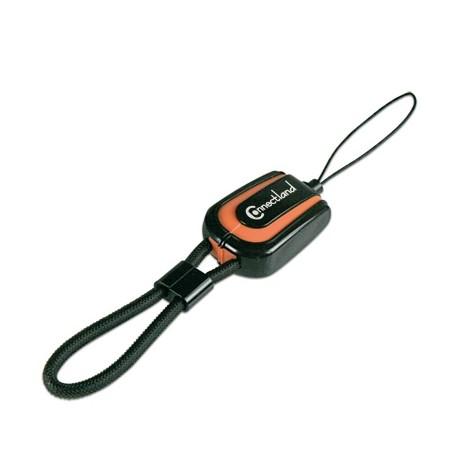 Lecteur de carte micro SD avec chargeur USB Connectland Noir Orange